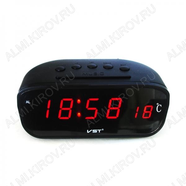 Часы автомобильные VST-803C-1 Дата, время, будильник, Температура: внутри (от -9 до 50С), питание от 12V