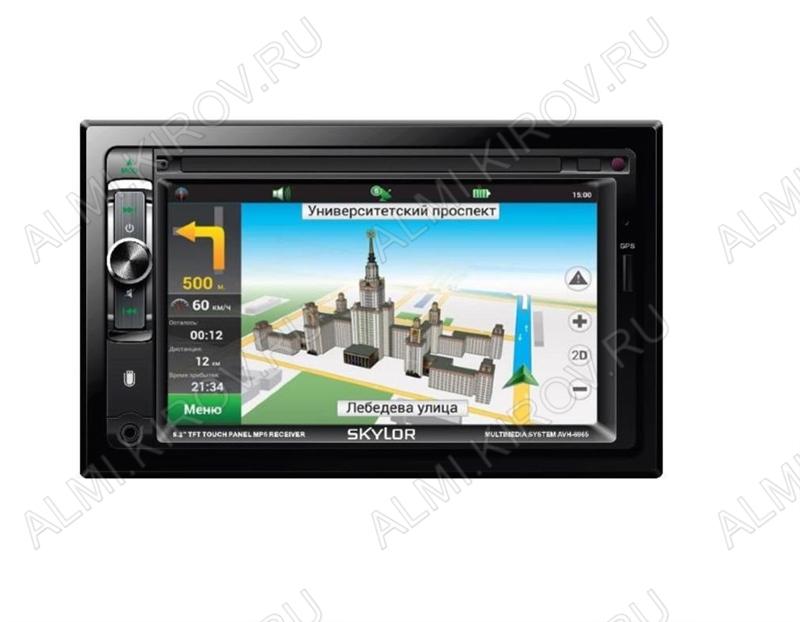 Автомагнитола  AVH-6965 multicolor (2DIN) с Bluetooth и модулем GPS MP3; 4x50W, FM (87,5-108 MHz), USB/microSD/AUX,  DC12V, TFT дисплей, цветной 6.2