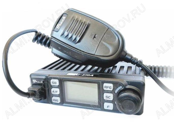 Радиостанция авто. Track 370-ERA 400+400 каналов, 8 Вт, ЧМ/АМ модуляция, индикация каналов, радиус действия до 15 км, диапазон СВ 27МГц, Питание 12/24В,