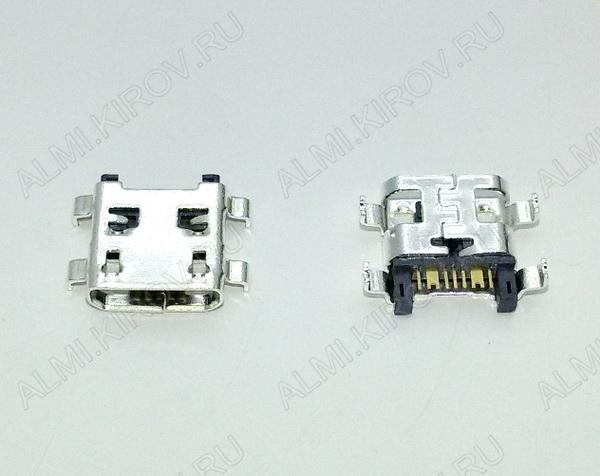 Разъем (3894) MICRO USB 7pin гнездо на плату (PU05)
