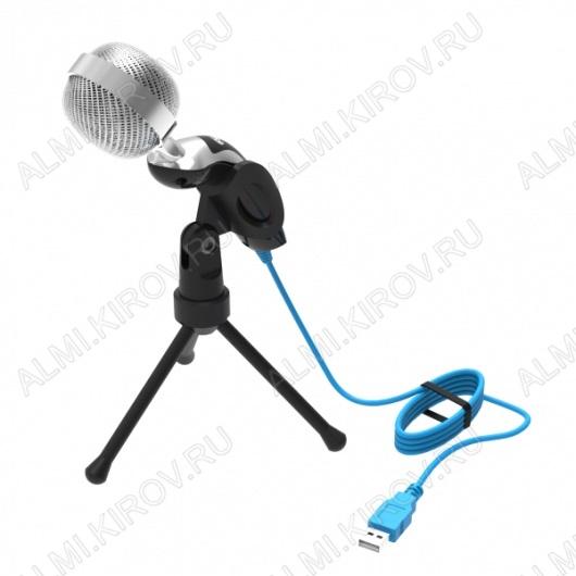 Микрофон настольный RDM-127 Black USB 50-16000 Гц; сопротивление 2,2 кОм; чувствительность 30 дБ; USB