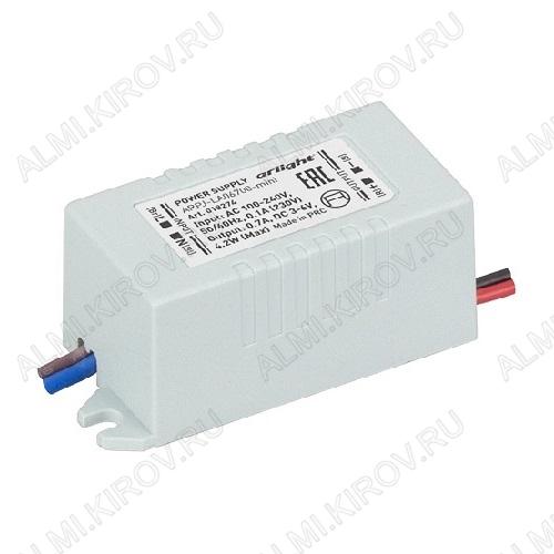 Драйвер светодиодный ARPJ-LA06700-mini_(018274)  4W 700mA Uвх.=100-240VAC; Uвых.=3-6VDC; 45*19*17мм