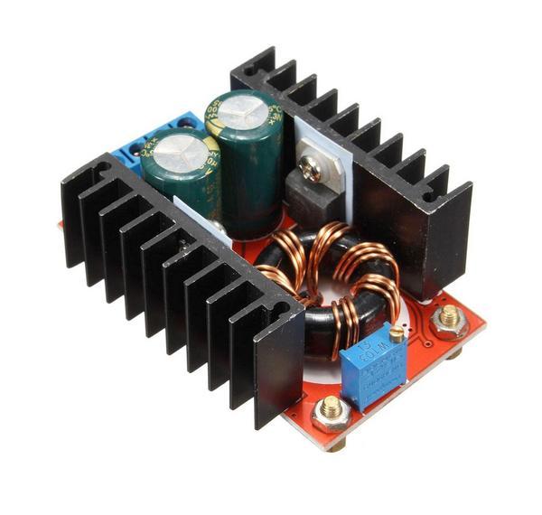 KIT DC/DC в  12...35В(6А) из 10...32В, на базе ШИМ контроллера UC3843AN. Повышающий-понижающий. Uвх.10...32 В; Uвых.12...35 В; Входной ток: до10А; Выходной ток: до 6А; Размер: 65х56.5х23 мм