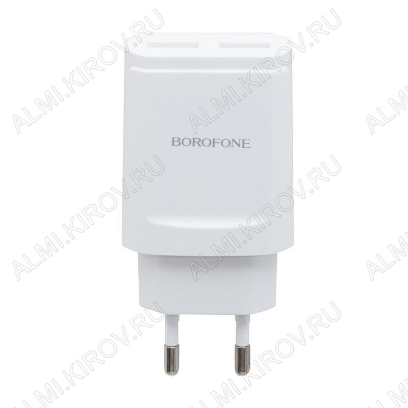 Сетевое зарядное устройство с выходом USB*2 2.1A BA8A LePlug белое;