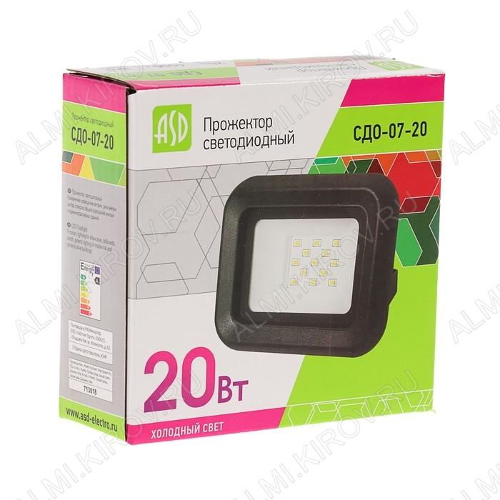 Прожектор светодиодный  20W СДО-07-20