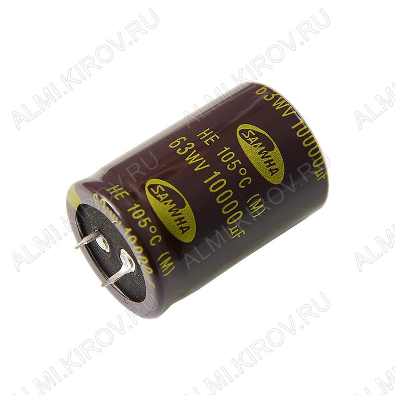 Конденсатор CAP10000/63V 3550 +105C