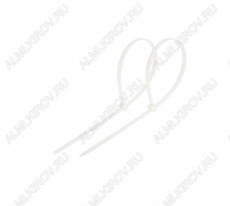 Стяжка кабельная  80*2,5 мм белая (100шт)