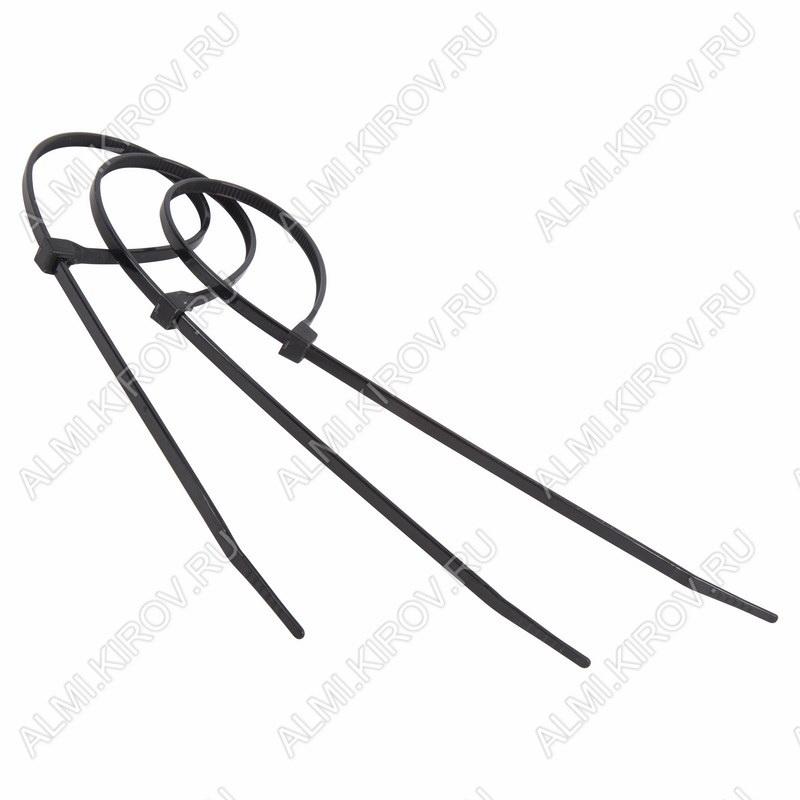 Стяжка кабельная 150*2,5 мм черная (100шт)