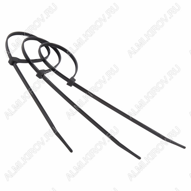 Стяжка кабельная 200*3,6 мм черная (100шт)