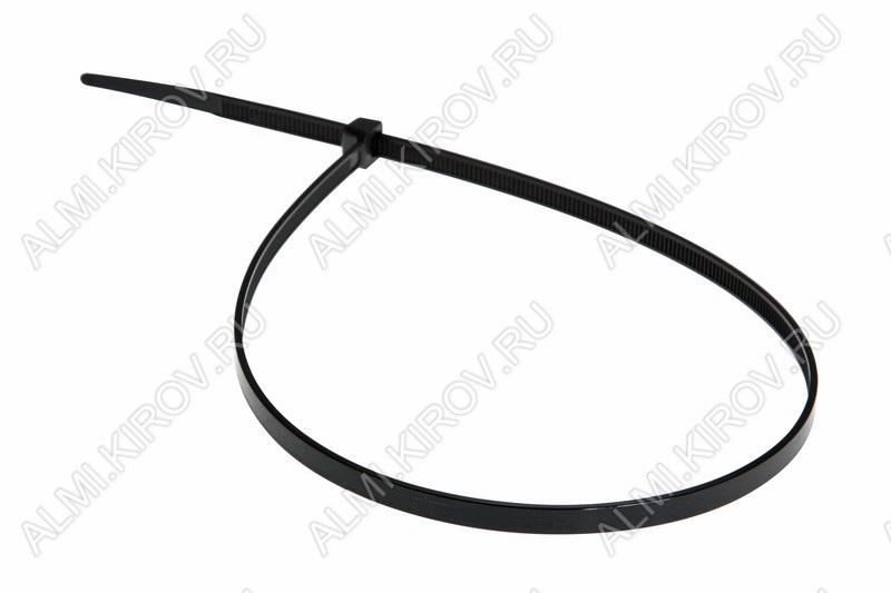 Стяжка кабельная 400*4,8 мм черная (100шт)