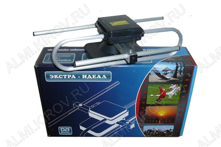 Антенна комнатная ЭКСТРА-ИДЕАЛ активная ДМВ/DVB-T; 26dB; блок питания; с кабелем