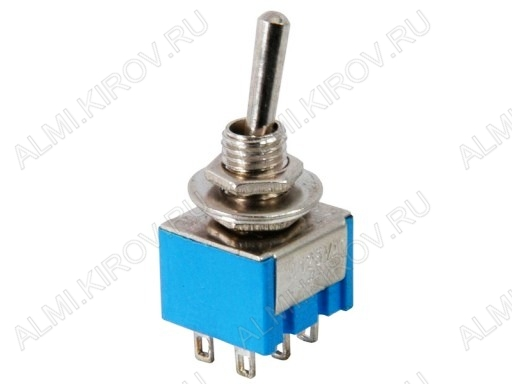 Тумблер MTS-202 (250V;3A) ON-ON 6 pin