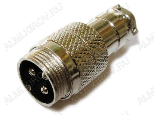 Разъем (408) MIC16-3pin штекер на кабель
