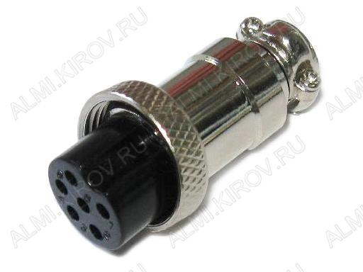 Разъем (413) MIC16-6pin гнездо на кабель