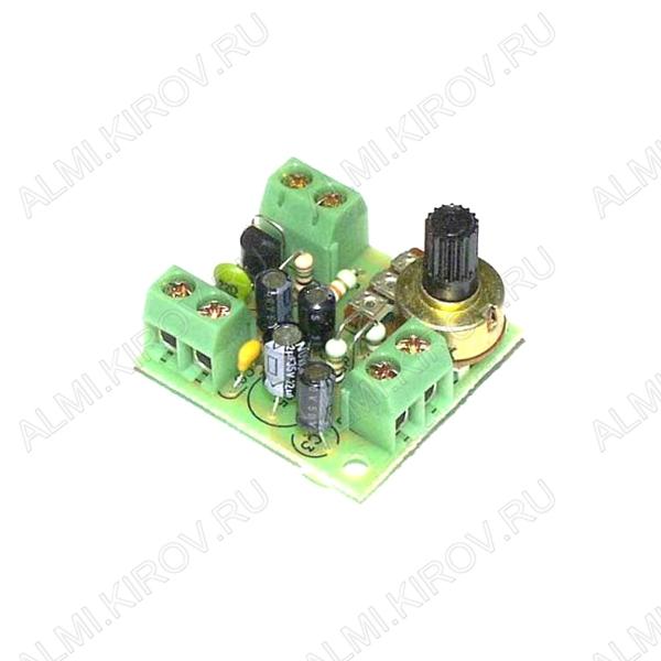 Радиоконструктор Микрофонный усилитель BM137 Для работы с любым динамическим микрофоном с сопротивлением 4:100кОм, регулировка уровня выходного сигнала