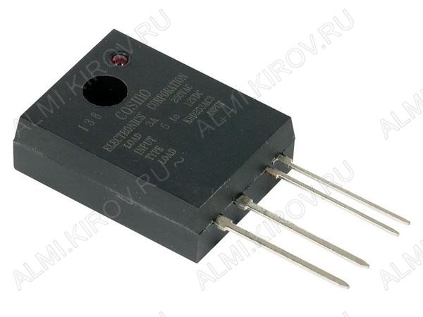Реле твердотельное KSD215AC3 управление 5-12VDC; коммутация 15A 250VAC