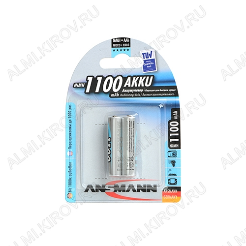 Аккумулятор R03/AAA 1100mAh 5035222 1.2V;NiMh;блистер 2/24                                                                                        (цена за 1 аккумулятор)
