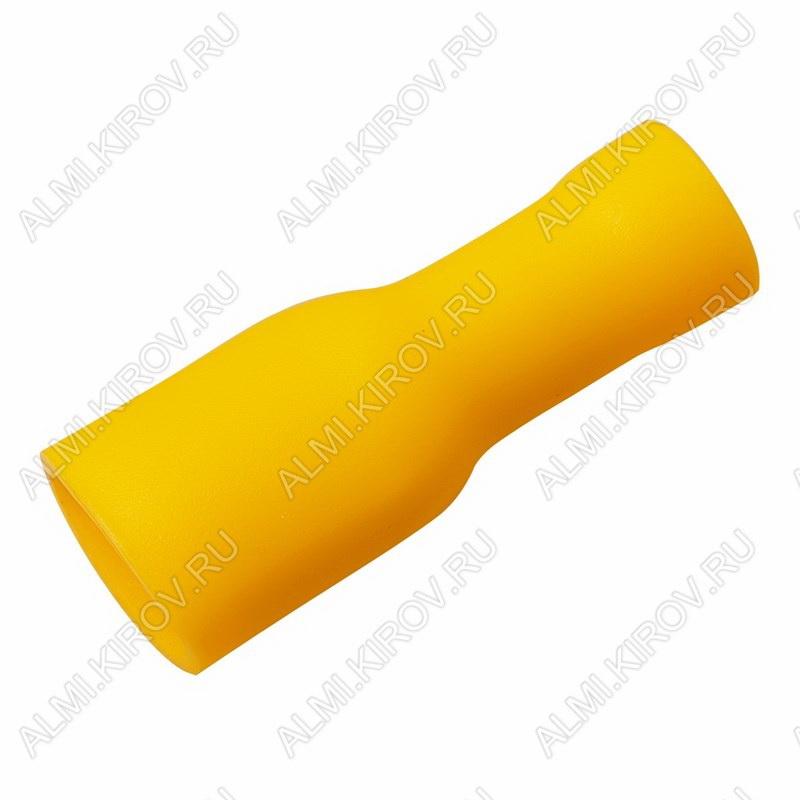 Клемма ножевая (№16) 6.4x0.8 гнездо VF5.5-250A полностью изолированная сечение 3.5-3.5 мм2; желтая