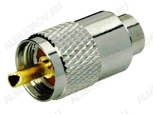 Разъем (288) UHF-U59P Штекер на кабель RG-59 накрутка