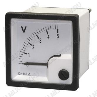 Вольтметр 5V AC (48*48) CG-48 50Hz