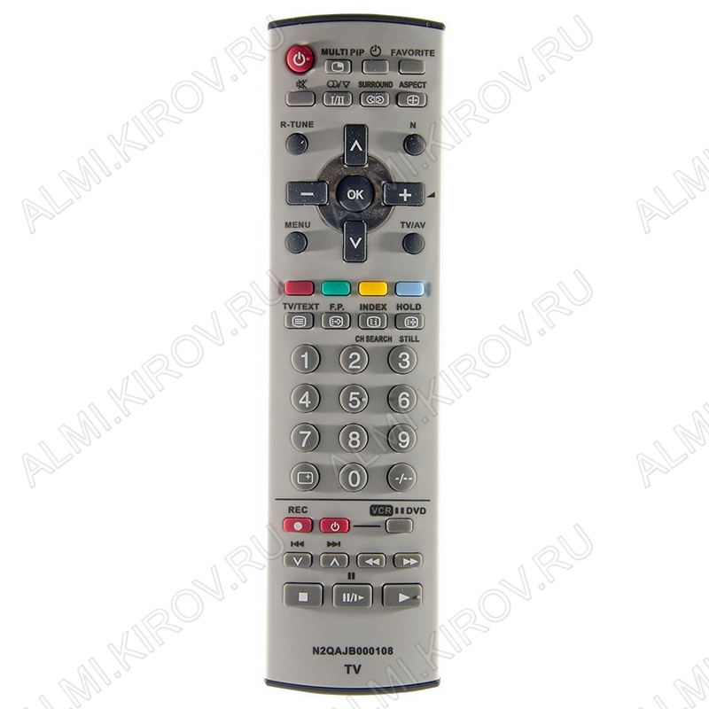 ПДУ для PANASONIC N2QAJB000108 TV/DVD/VCR