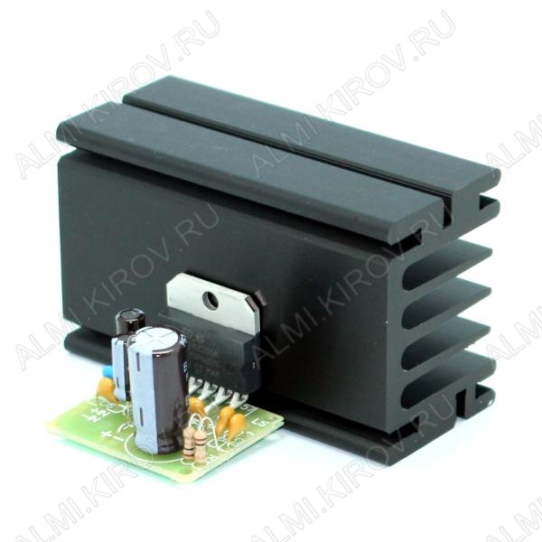 Радиоконструктор Усилитель 1х22Вт BM057 (на TDA2005, мост) с радиатором Высококачественный одноканальный усилитель большой мощности с хорошими характеристиками, надежный и простой.Защита от КЗ нагрузки,перегрева