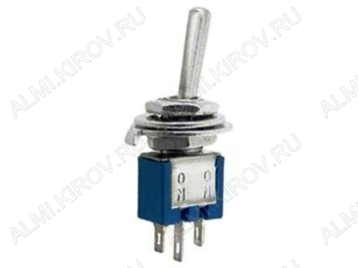 Тумблер SMTS-102 (250V;1.5A) ON-ON 3 pin