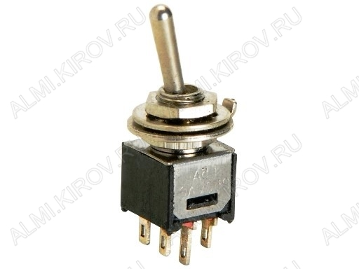 Тумблер SMTS-202 (250V;1.5A) ON-ON 6 pin