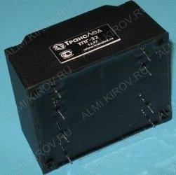 Трансформатор ТПГ-32-2*15В   15V*2 0.9A 32W 69*57*39мм; герметизированный; масса 0.6кг