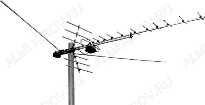 Антенна Дельта H1381 пассивная (алюминиевый корпус, F-разъем)