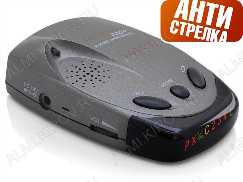Радар-детектор Crunch 2260 STR голосовой Диапазон X, K, Ka, Ultra-X, Ultra-K, Laser, VG-2. Обзор 360гр. Город/Трасса. Символьный дисплей, звук.