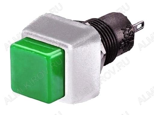Кнопка RWD-203B (зелен.без фикс.) белый корпус