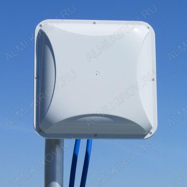Антенна стационарная PETRA BROAD BAND MIMO2x2 для 3G/4G USB-модема 3G/4G/LTE/WIFI; 1700-2700 MHz; 14dB; без кабеля; 2 разъема N-гнезда