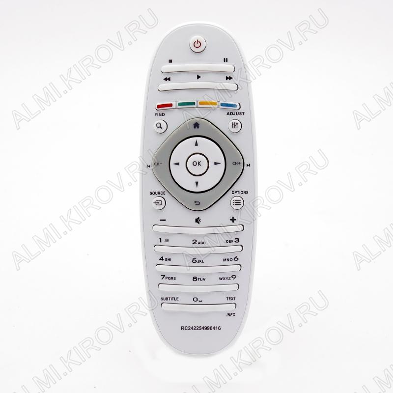 ПДУ для PHILIPS 2422 549 90416 LCDTV (ОВАЛ) белый