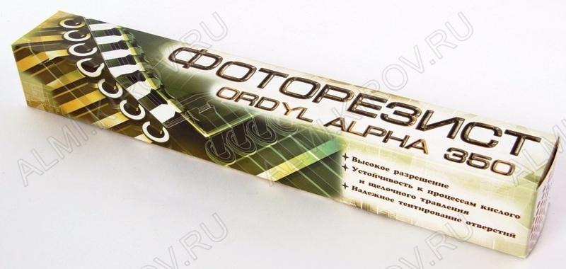 Фоторезист ORDYL-350 300х1000мм, водно-щелочного проявления 50мкм