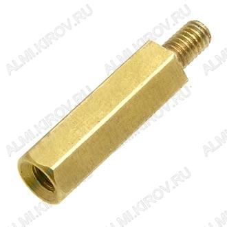 Стойка (№55) для платы PCHSN-15 металл h=15мм, резьба М3 наружная+внутренняя