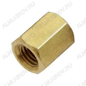 Стойка (№62) для платы PCHSS-6 металл h=6мм, резьба М3 внутренняя+внутренняя