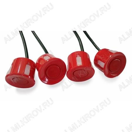 Датчик парктроника красный, шнур 2,5м