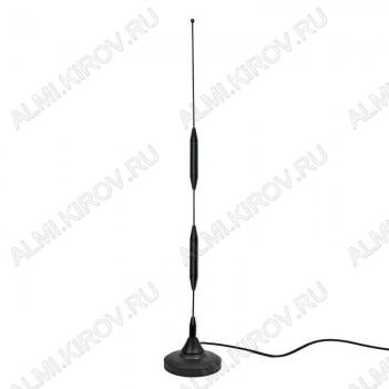Антенна GSM автомобильная магнитная 11db FME Стандарт GSM900/1800; 11dB; h=0.46м; с кабелем 5м + разъем FME