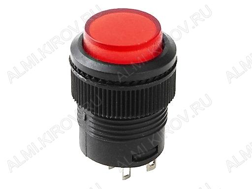Кнопка RWD-314 (красная с фикс. с постоянной подсветкой 3V)