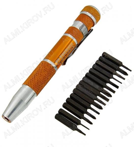Набор отверток YX-8018 (метал.ручка)