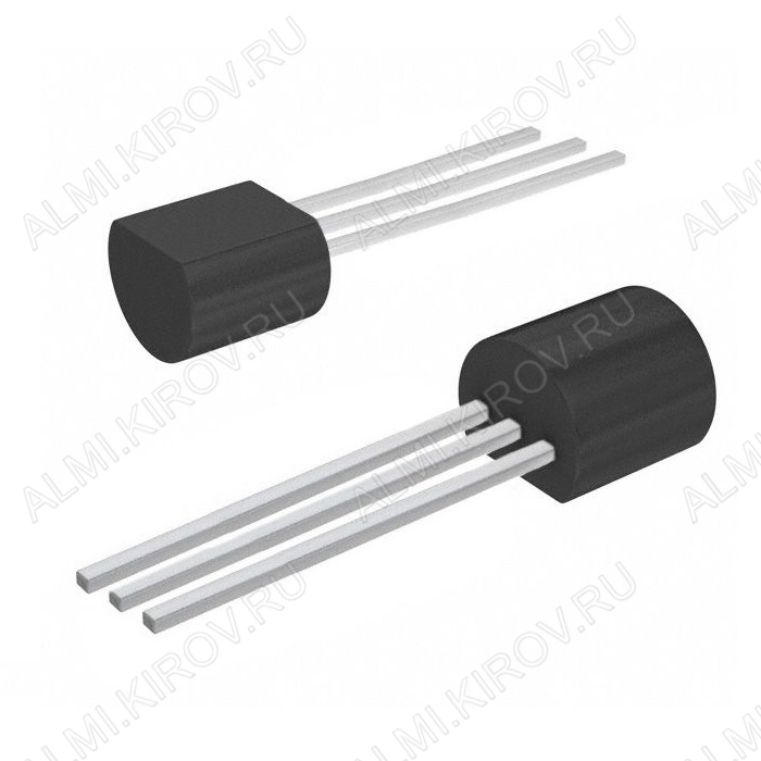 Транзистор BC327-40 Si-P;NF-Tr;50V,0.8A,0.625W;hFE=250...630