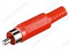 Разъем (133) RCA штекер на кабель красный