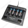 Зарядное устройство MultiCharger для 1-6шт NiCd,NiMh R03/AAA (1000mA), R6/AA (1000mA), 1-4шт R14/C (1000mA), 1-4шт R20/D (1000mA); для 1-2шт 6F22 (30mA); микропроцесс. обработка;