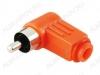 Разъем (1330) RCA штекер на кабель угловой красный