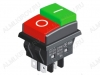 Сетевой выключатель JD03-A4 ON-OFF красно-зеленый с фиксацией 28,8*21,8mm; 15A/250V; 4 pin; маркировка клавиш: ON-OFF