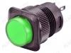 Кнопка RWD-315 (зеленая с фикс. с подсветкой 220V) 4pin/220V/3A