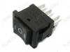 Сетевой выключатель RWB-210 ON-OFF-ON черный с нейтралью 19,5*13,2mm; 3A/250V; 6 pin