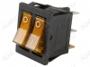 Сетевой выключатель RWB-510 (SC-797) желтый двойной с подсветкой 28,0*22,0mm; 15A/250V; 6 pin