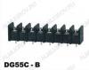 Клеммник барьерный DG55C-B-08P-13-00A(H) 300V; 20A: 8pin: Шаг 10мм винтовой
